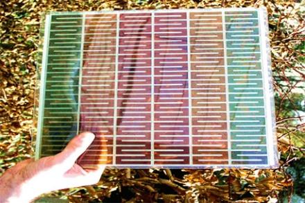 Цветная солнечная панель